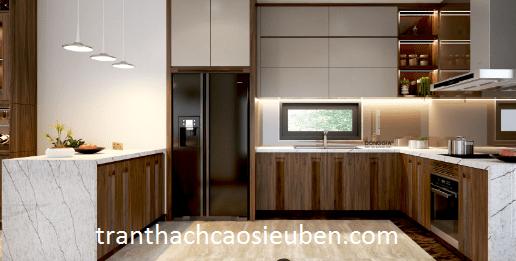 Mẫu trần thạch cao phòng bếp đẹp 2022