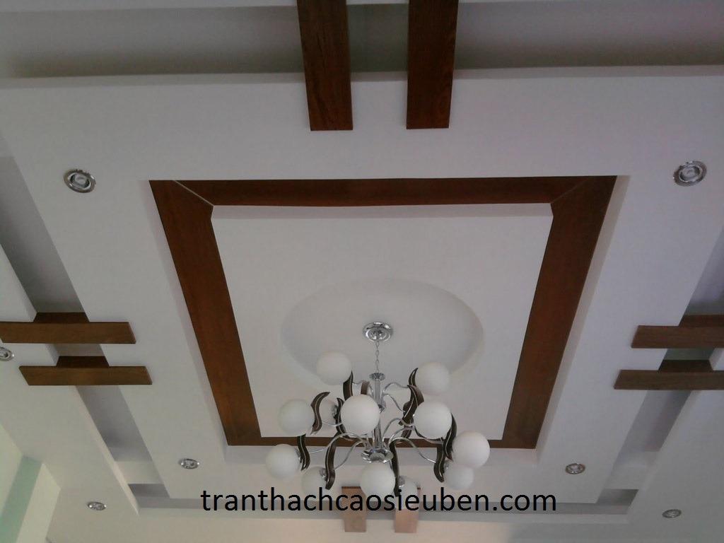 mẫu trần thạch cao phòng khách 4