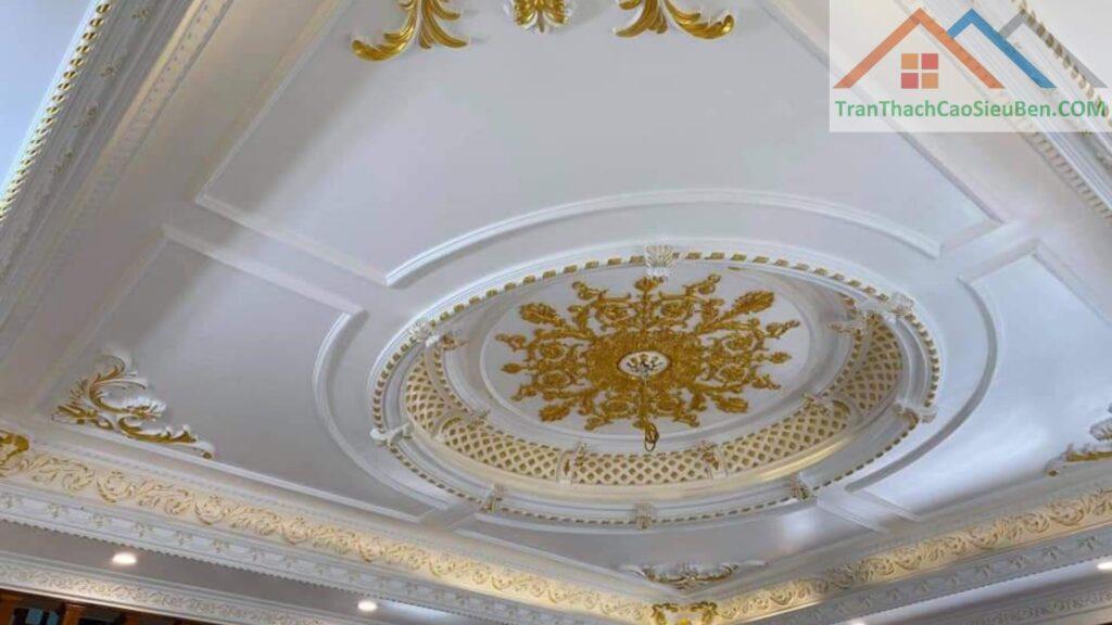 Mẫu trần thạch cao đẹp cho phòng khách 2022