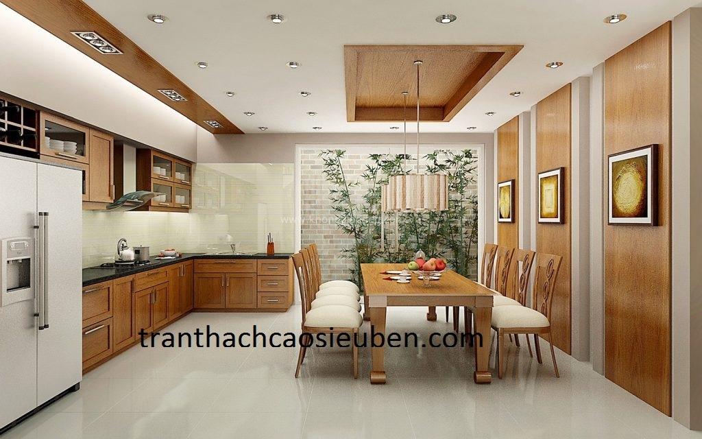 Mẫu trần thạch cao phòng bếp đẹp 5
