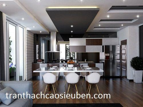 mẫu trần thạch cao phòng bếp