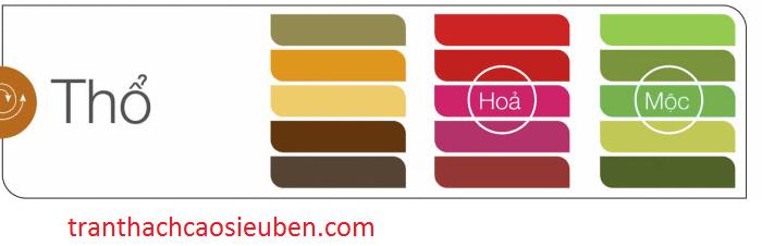 màu sắc hợp mệnh thổ
