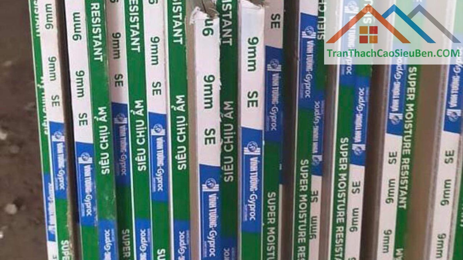 Giá tấm trần thạch cao chống ẩm Gyproc Vĩnh Tường
