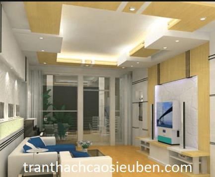 Cách phối màu sơn trần thạch cao hợp với nội thất