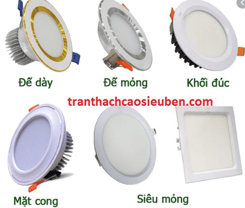 Những loại đèn led âm trần phổ biến