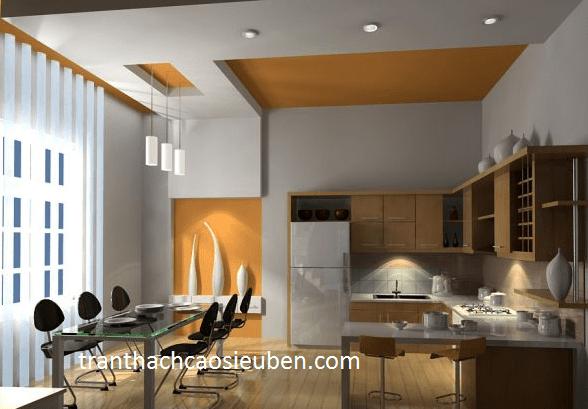 Mẫu trần phòng bếp dành cho căn hộ chung cư