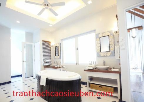 Mẫu trần thạch cao đẹp cho nhà vệ sinh với phòng tắm 2020 2021