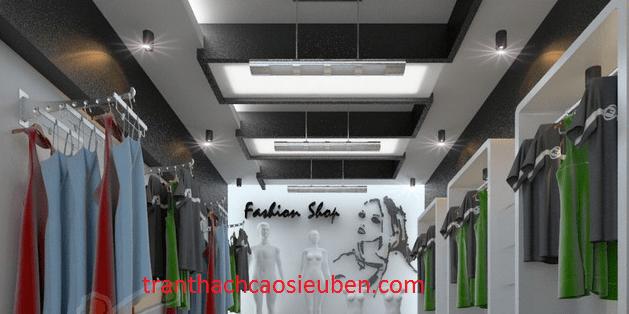 Mẫu trần thạch cao cho cửa hàng quần áo