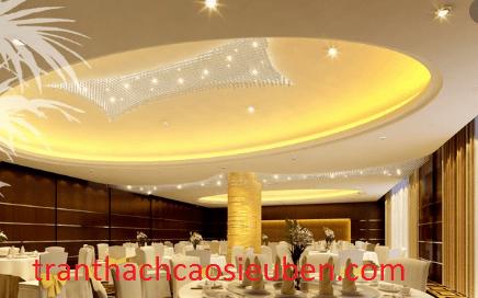 Mẫu trần nhà hàng tiệc cưới dạng tròn