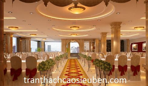 Mẫu trần thạch cao đẹp sang trọng cho nhà hàng tiệc cưới