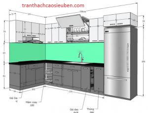 Kích thước nội thất phòng bếp đúng tiêu chuẩn