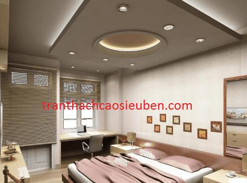 Mẫu trần thạch cao giật cấp đẹp cho phòng ngủ