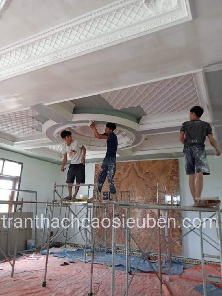Thi công trần cổ điển ở Nghệ An
