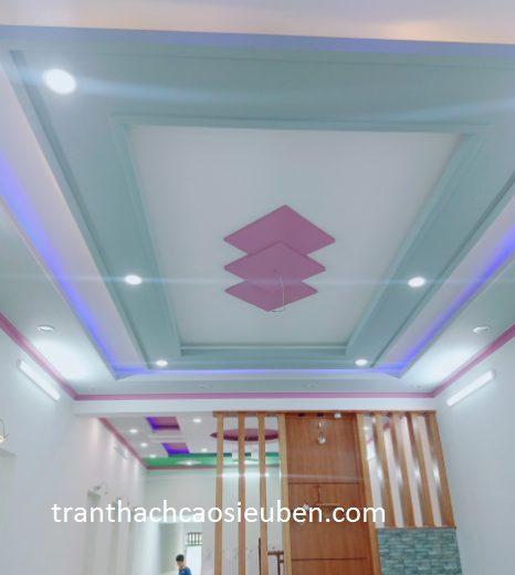 Mẫu trần nhà đẹp đơn giản không thạch cao 3