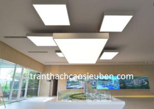 Mẫu trần nhà đẹp đơn giản không thạch cao