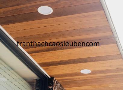 Mẫu trần nhà đẹp đơn giản không thạch cao 4