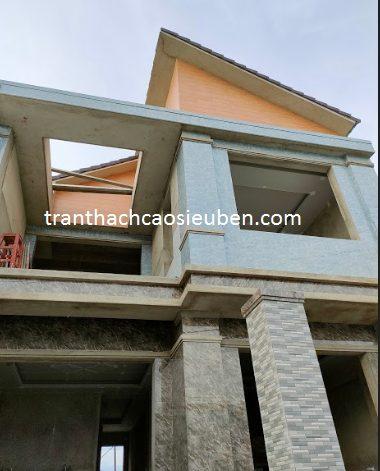 Thi công trần thạch cao nhà biệt thự cô Hà ở TP Hà Tĩnh
