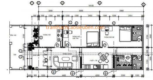 Mẫu thiết kế nhà cấp 4 rộng 6 mét