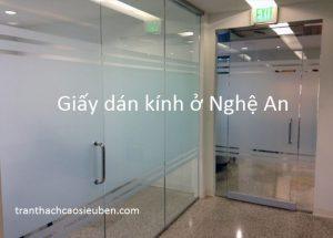 Decal giấy dán kính ở Vinh Nghệ An