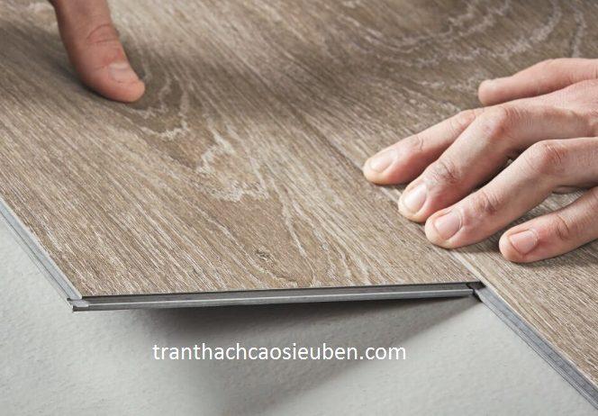 Thi công sàn nhựa vân gỗ hèm rãnh tại TP Vinh Nghệ An