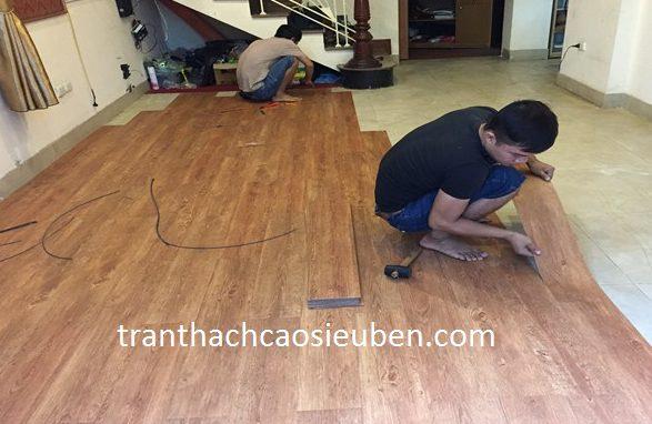 Sàn nhựa vân gỗ ở Vinh Nghệ An 1