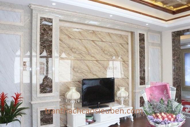 Mẫu tấm nhựa ốp tường cho phòng khách tuyệt đẹp
