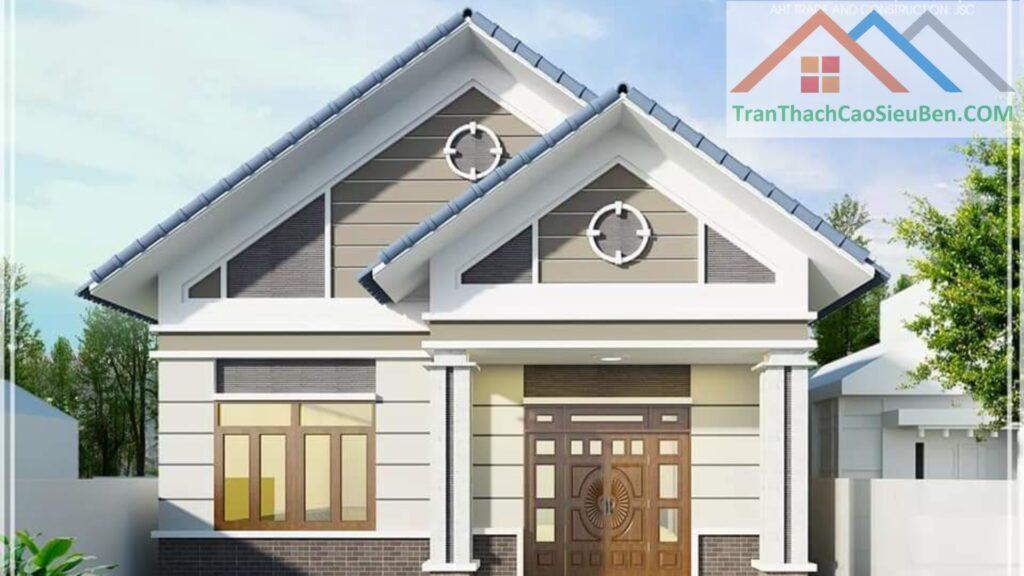 Phô trương bề thế của ngôi nhà